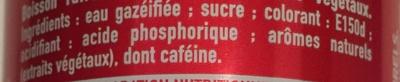 Coca Cola - Ingrediënten