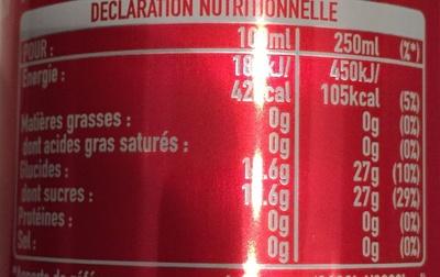 Coca Cola - Voedingswaarden