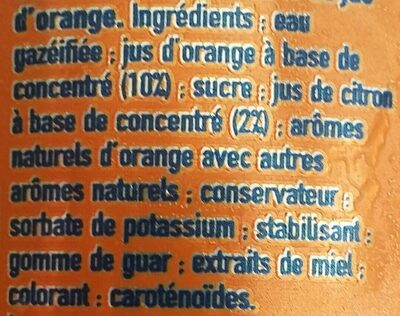 Fanta orange - Ingredients - fr