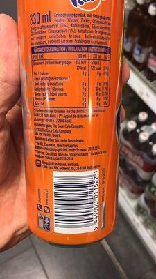 Orange - Información nutricional - es