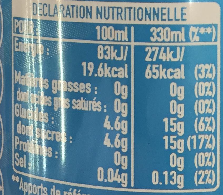 Té limón - Informations nutritionnelles - fr