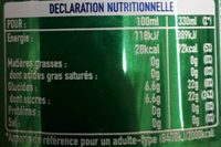 Sprite - Voedingswaarden - fr