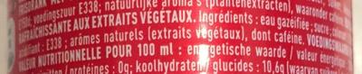 Coca Cola - Ingrediënten - fr