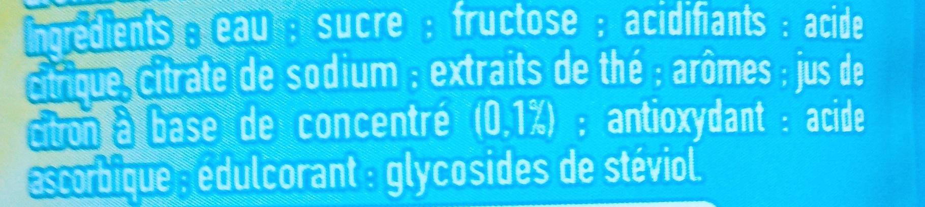 Thé glacé saveur citron - Ingrédients - fr