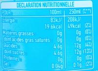 Thé glacé saveur citron - Informations nutritionnelles - fr