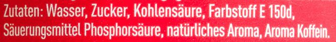 Coca Cola 1l - Zutaten - de