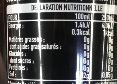Coca Cola Zero - Voedingswaarden
