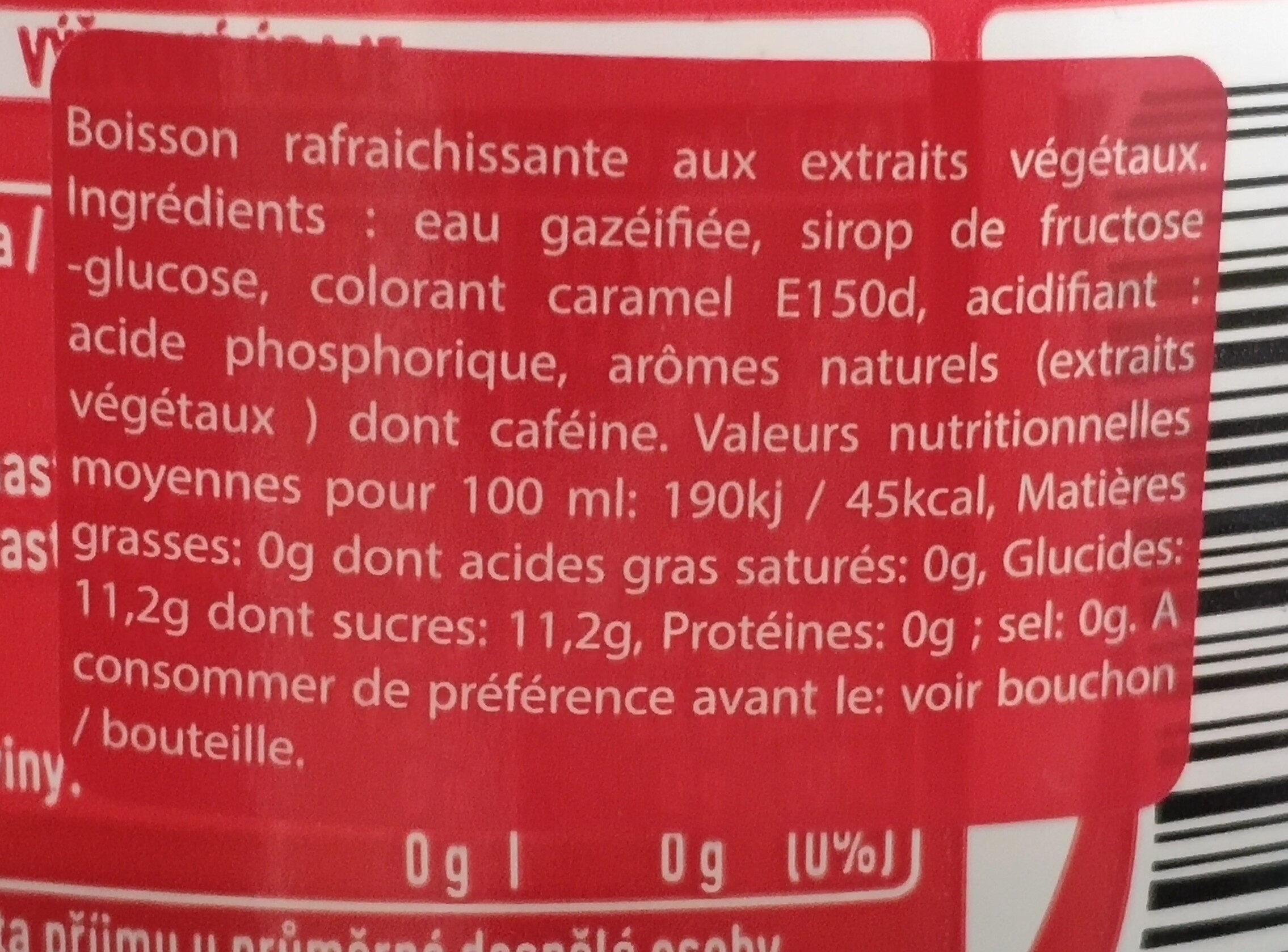 Coca Cola Original taste - Składniki - fr