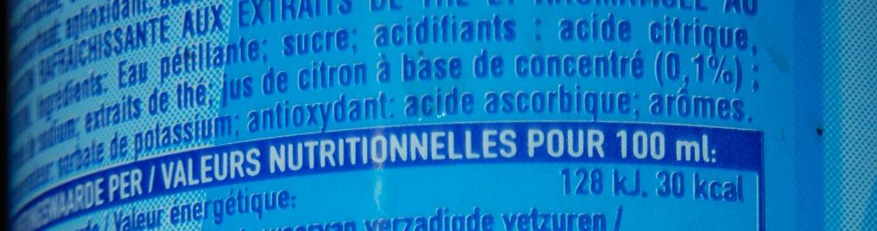 Nestea sparkling lemon - Ingrediënten - fr