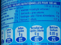 Nestea sparkling lemon - Nutrition facts - fr