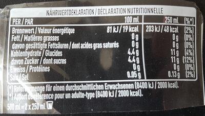 Thé vert mangue camomille - Voedingswaarden