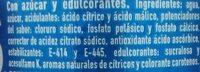 Aquarius Orange - Ingrédients - es