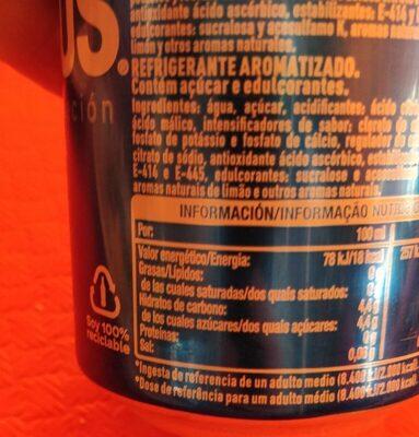 Aquarius Orange - Informations nutritionnelles - es