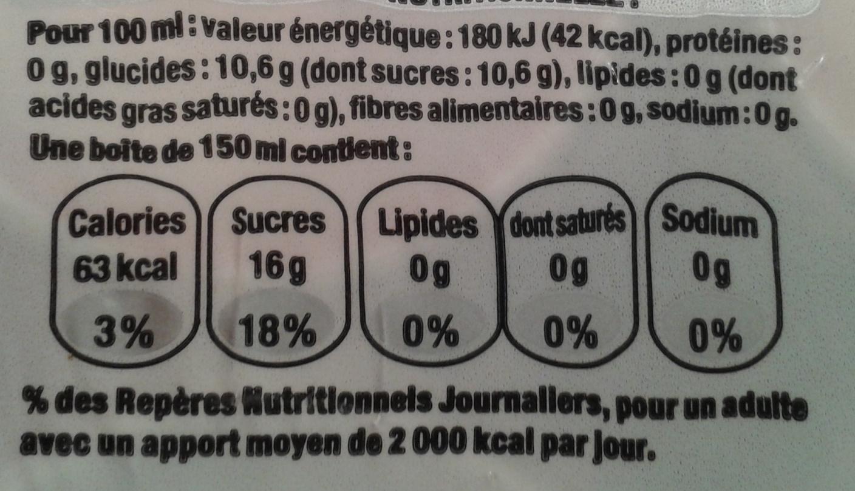 Mini Canette Coca-Cola - Valori nutrizionali - fr