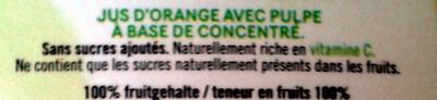 Jus d'orange doux - Ingrediënten
