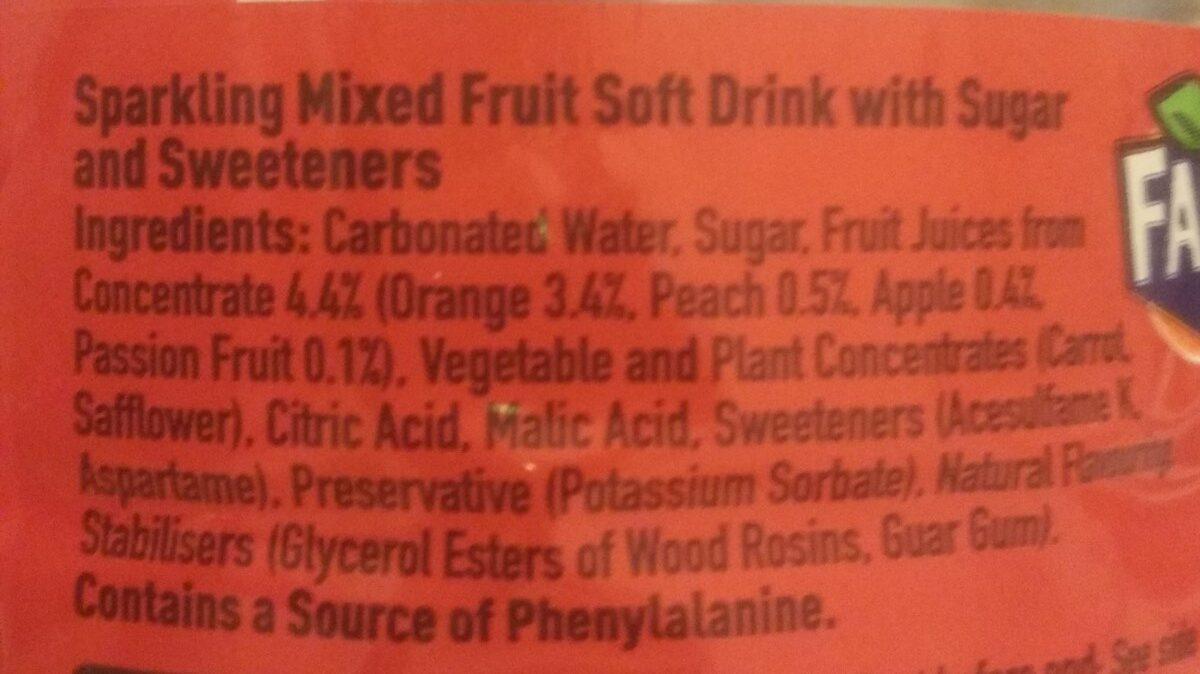 Fanta Fruit Twist - Ingrédients - fr