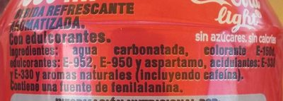 Coca Cola Light - Ingredientes