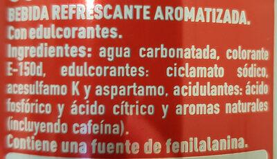 Coca Cola Light - Ingredientes