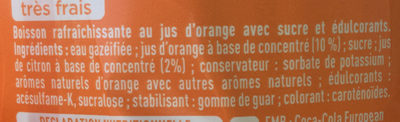 Fanta Orange - Ingredients