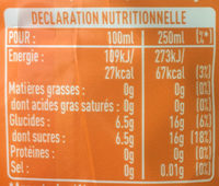 Fanta Orange - Nutrition facts