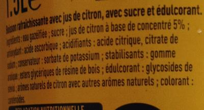 Citron frappé - Ingrédients