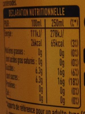 Citron frappé - Informations nutritionnelles