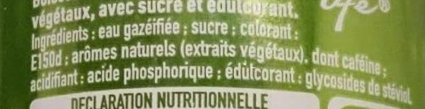 Coca-Cola Life - Ingredients
