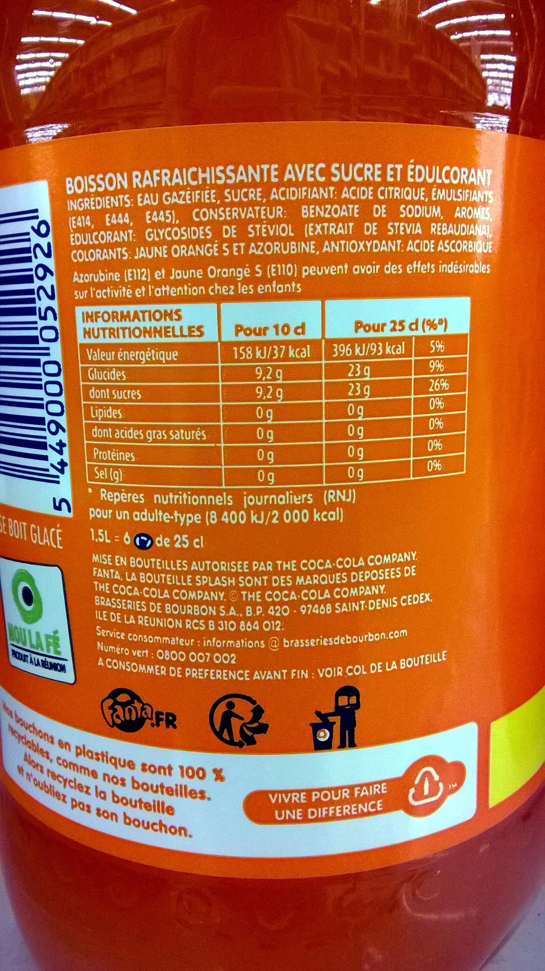 Orange - Ingrediënten - fr