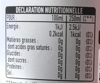 Coca Cola Light - Voedingswaarden - fr