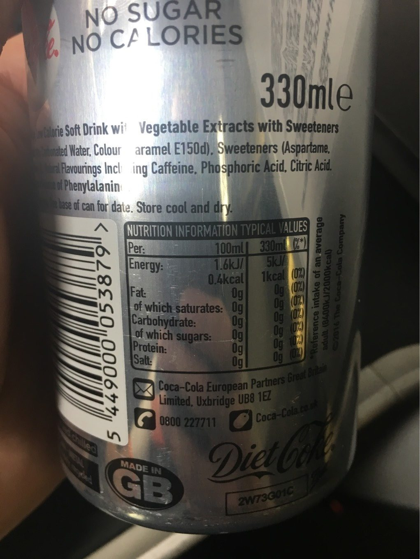 Diet Coke - Informations nutritionnelles - fr
