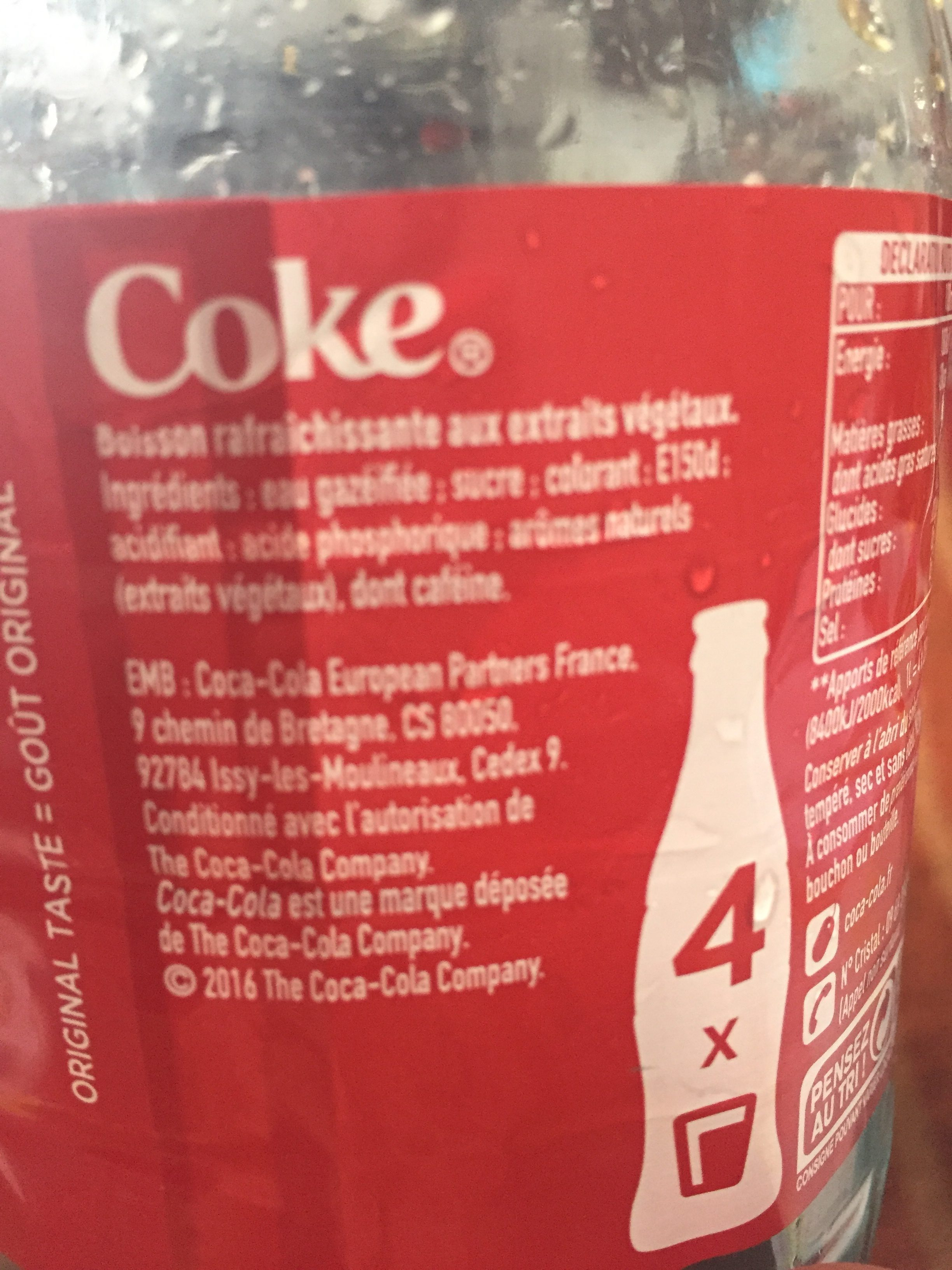 Coca Cola - Ingredients