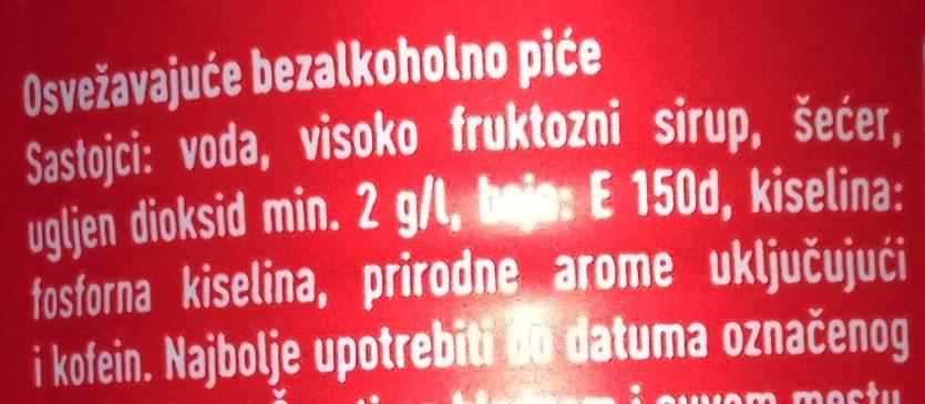 Coca cola - Ingredients