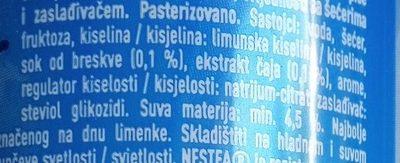Nestea Pêche blanche - Sastojci