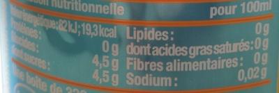 Nestea Pêche blanche - Informations nutritionnelles - fr