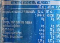 Nestea Pêche blanche - Hranljiva vrednost - sr