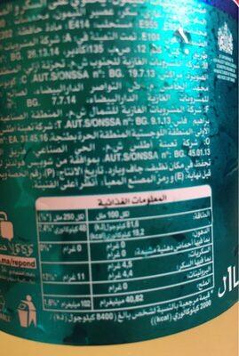 Schweppes citron - Informations nutritionnelles