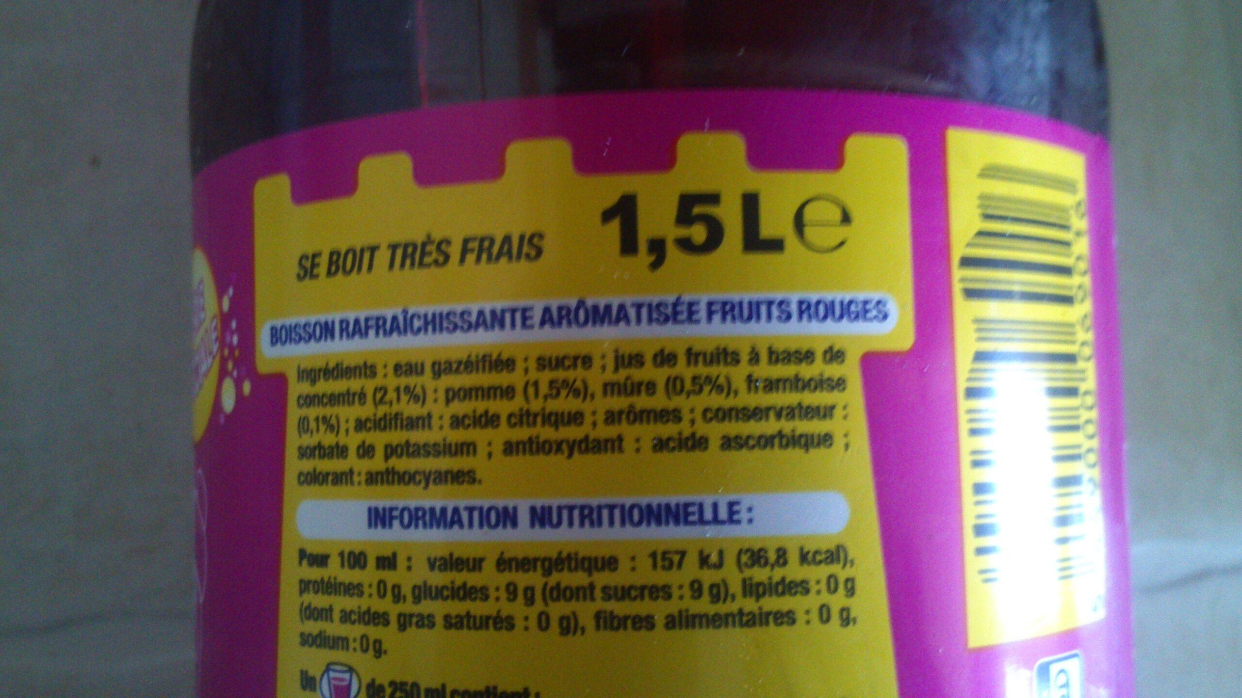 Fanta, saveur fruits rouges - Ingrediënten