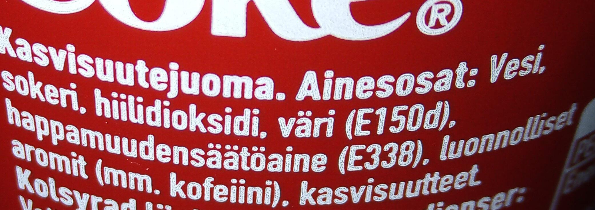 Coca-cola - Ainesosat - fi