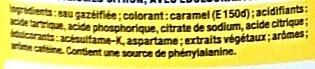 Coca Cola Light Lemon - Ingrédients - fr