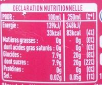 """""""Fanta"""" ( Pomme Cerise ) - Informations nutritionnelles"""