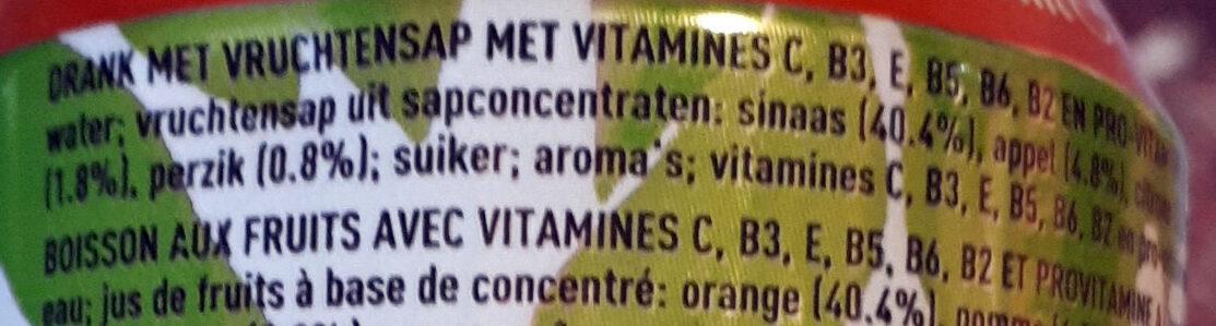 Minute Maid multivitamines - Ingrediënten - nl