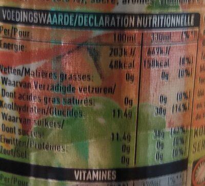 Minute Maid multivitamines - Voedingswaarden - fr