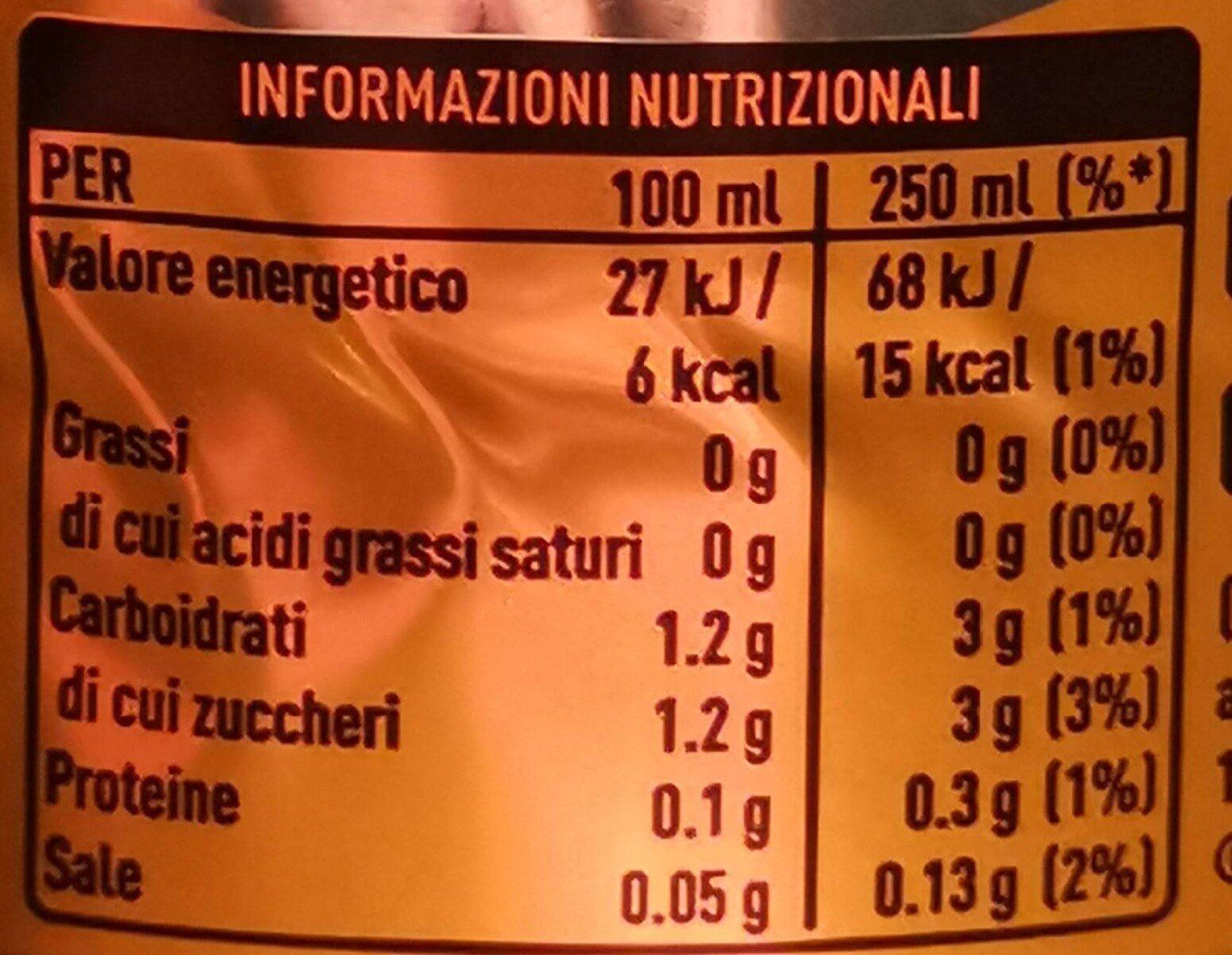 Fanta zéro orange - Valori nutrizionali - it