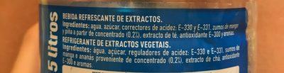 Bebida Refrescante De Extractos. Con Azúcares Y Edulcorante. - Ingredients