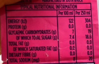 Bonaqua Strawberry Sparkling - Valori nutrizionali - fr
