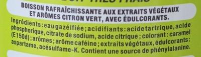 Coca Cola light lime - Ingrédients - fr