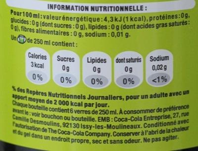 Coca Cola light lime - Informations nutritionnelles - fr