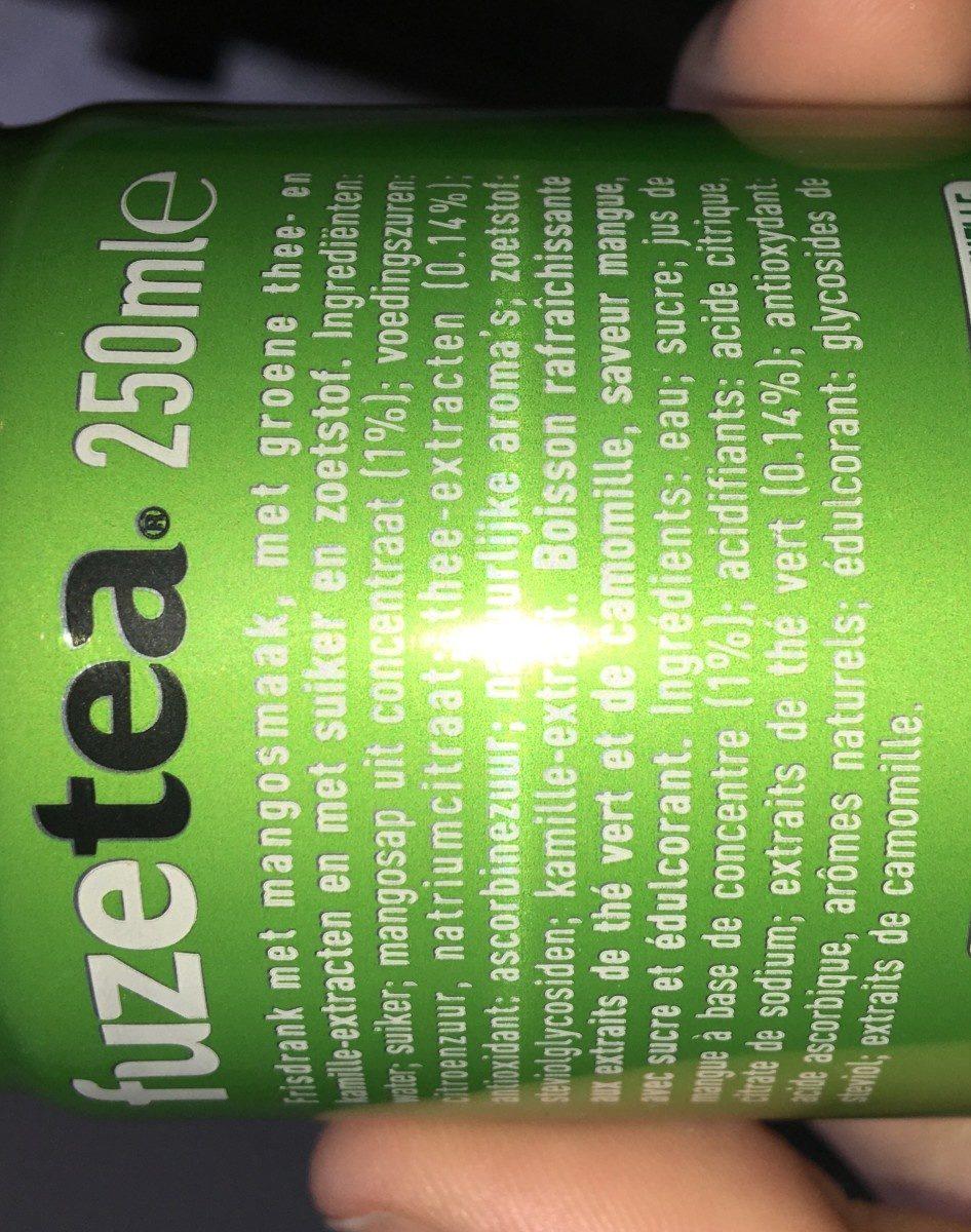 Green tea mango chamomile - Ingredients