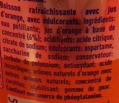 Fanta orange zéro - Ingrediënten - fr
