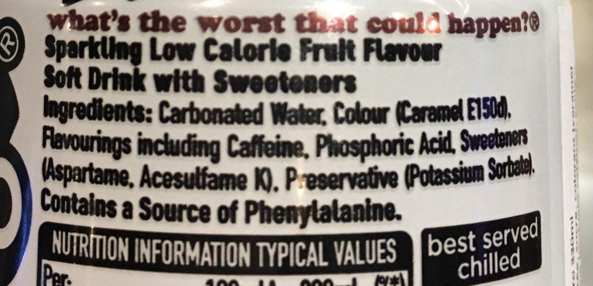 Dr Pepper Zero - Ingredients - fr